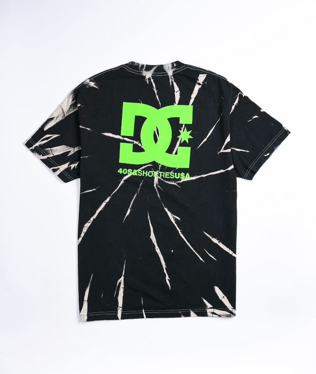 DC x 40s & Shorties Logo Black Tie Dye T-Shirt