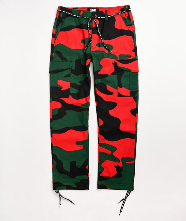 DGK O.G.S. Red, Green, & Black Cargo Pants