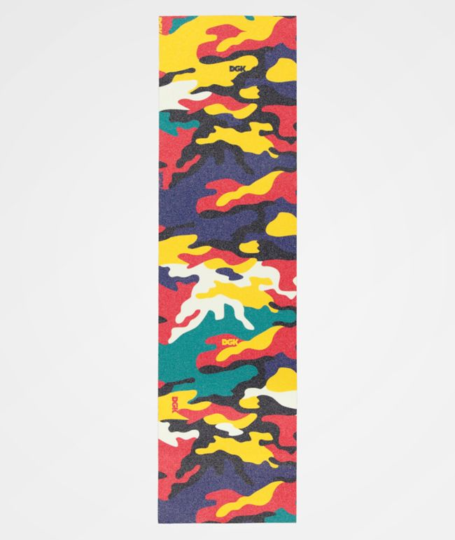 DGK Red, Green, and Yellow Camo Grip Tape