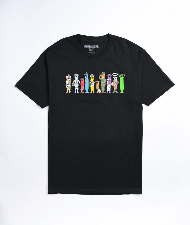 DGK x Otter Pops All Of Us Black T-Shirt