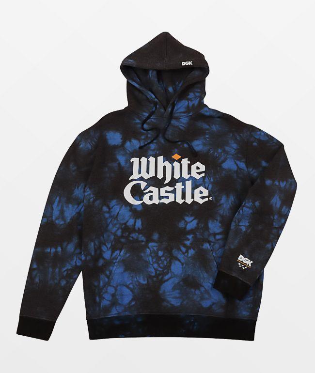 DGK x White Castle Blue & Black Tie Dye Hoodie