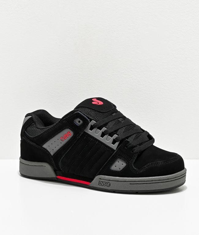 DVS Celsius Black, Charcoal, & Red Skate Shoes