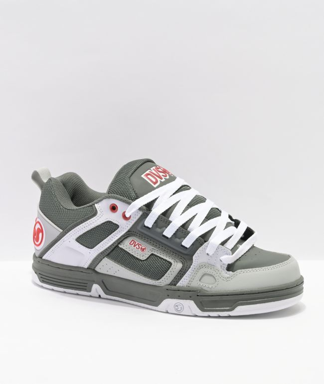 DVS Comanche Charcoal, White & Red Skate Shoes