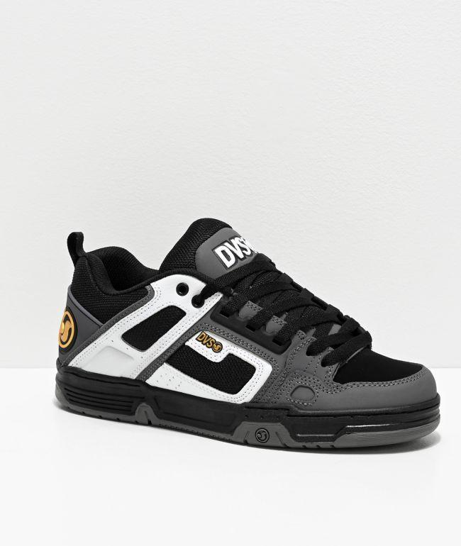 DVS Comanche White, Charcoal & Black Skate Shoes