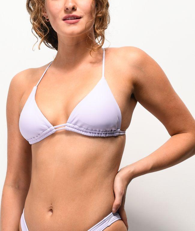Damsel Pixie Lavender Triangle Bikini Top