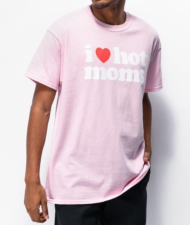 Danny Duncan I Heart Hot Moms Pink T-Shirt