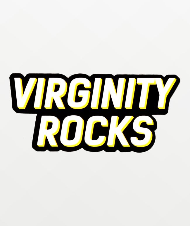Danny Duncan Virginity Rocks Black Sticker