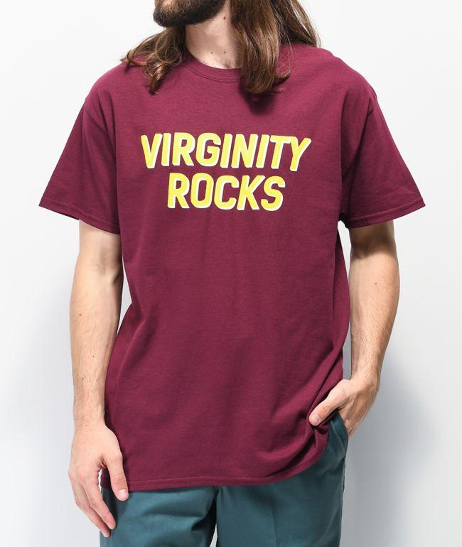 Danny Duncan Virginity Rocks camiseta borgoña y amarilla