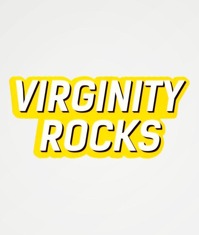 Danny Duncan Virginity Rocks pegatina amarilla