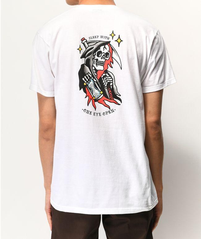 Dark Seas Sleep White T-Shirt