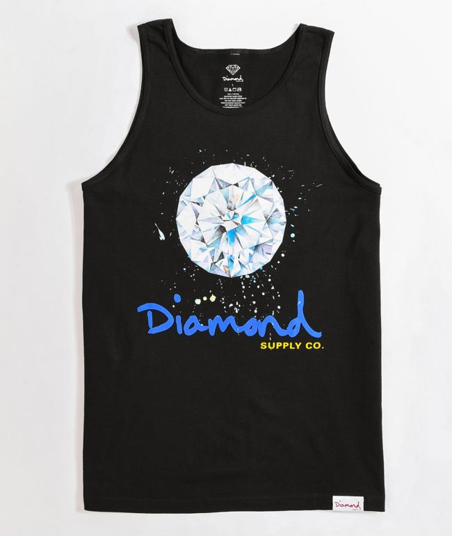 Diamond Supply Co. Splash Sign Black Tank Top
