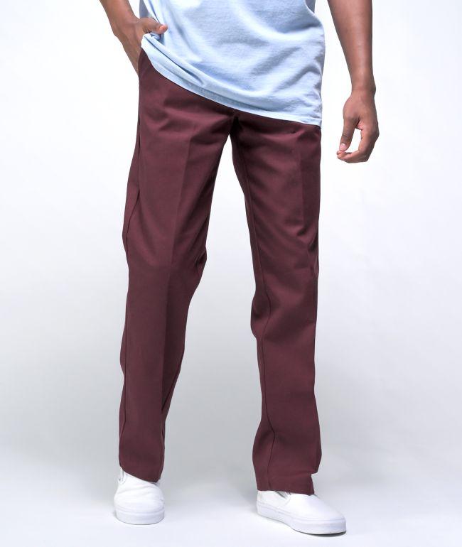 Dickies '67 Skate Straight Maroon Work Pants