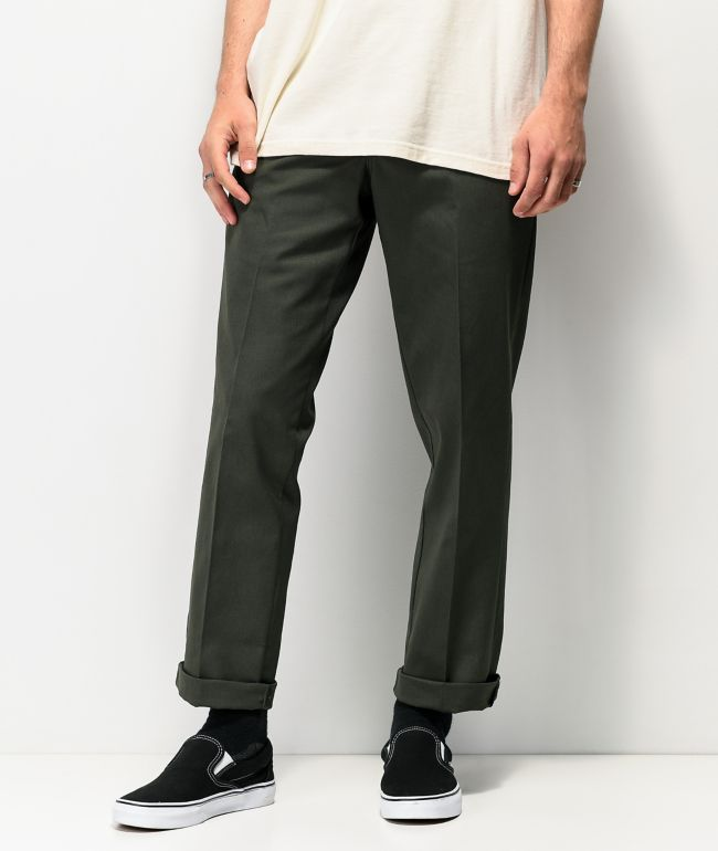 Dickies '67 Slim Fit Olive Green Work Pants