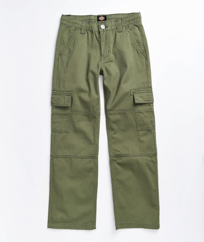 Dickies Boys Olive Cargo Pants