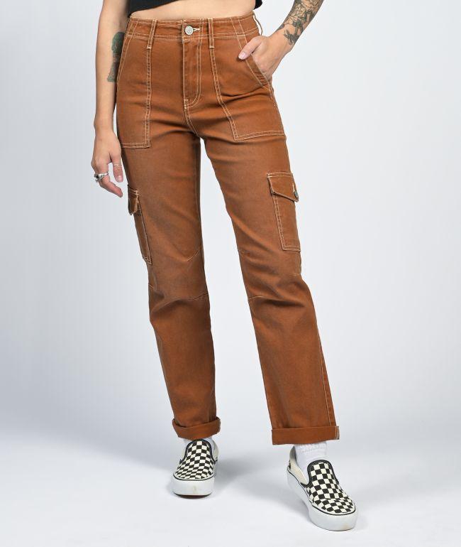 Dickies Cuff Brown Cargo Pants