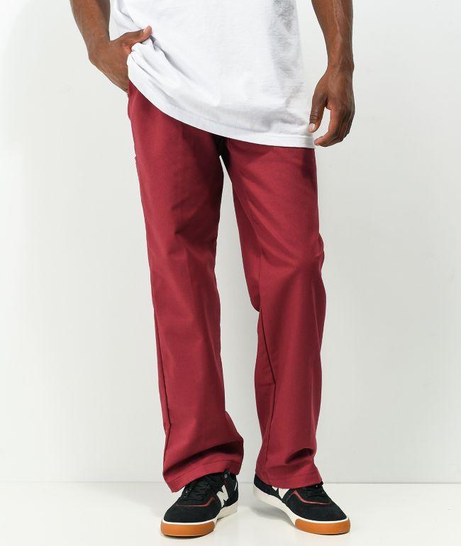 Dickies Foy Loose Red Twill Skate Pants