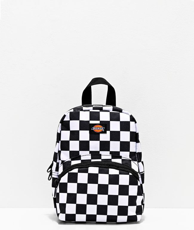 Dickies Logo Black & White Check Mini Backpack