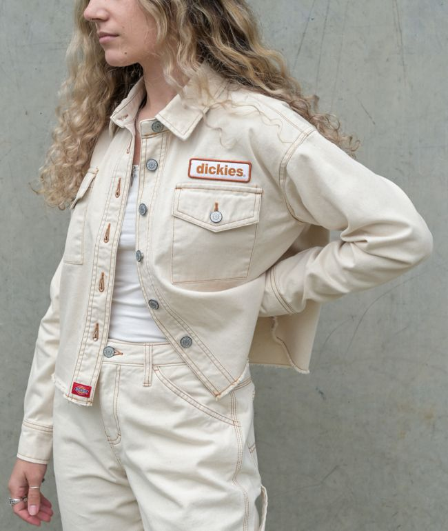Dickies Patch chaqueta corta de mezclilla natural