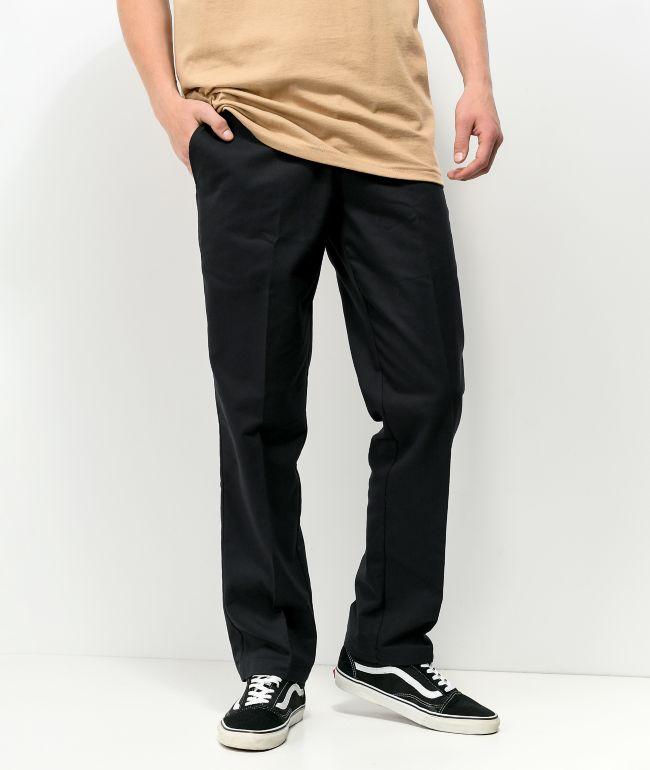 Dickies Skate Slim Straight Black Chino Pants