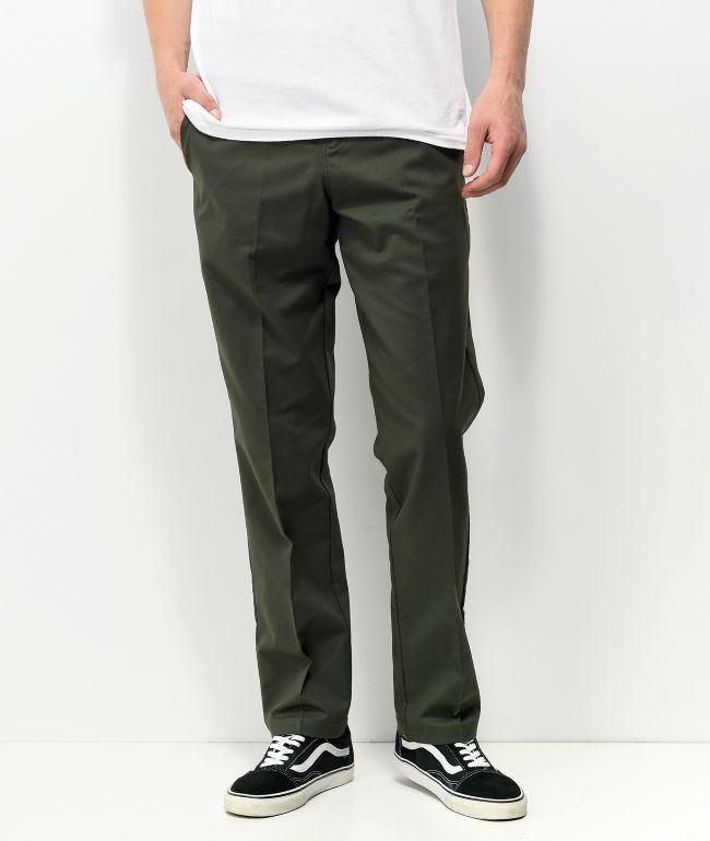 Dickies Skate Slim Straight Olive Chino Pants