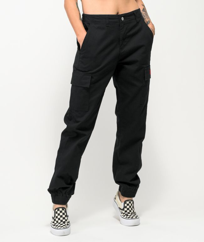 Dickies Slash Pocket Black Cargo Jogger Pants