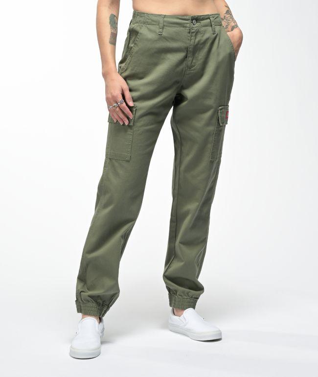 Dickies Slash Pocket Olive Cargo Jogger Pants