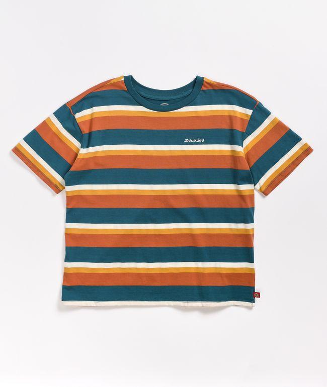 Dickies Tomboy Auburn & Blue Crop T-Shirt
