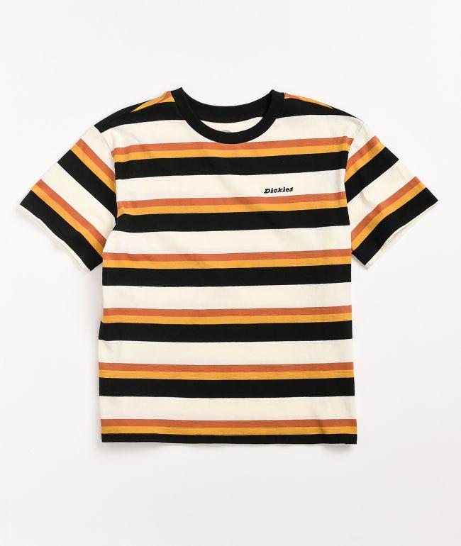 Dickies Tomboy Rust & Black Stripe T-Shirt