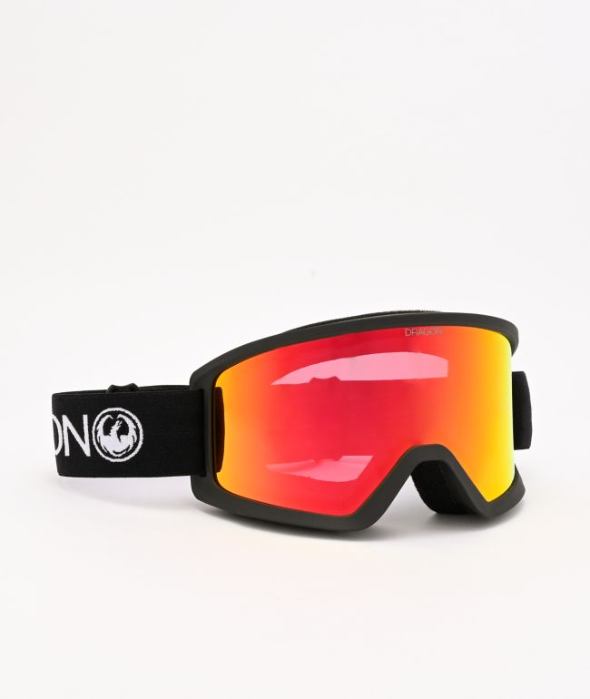 Dragon DX3 OTG Black & Red Ion Snowboard Goggles