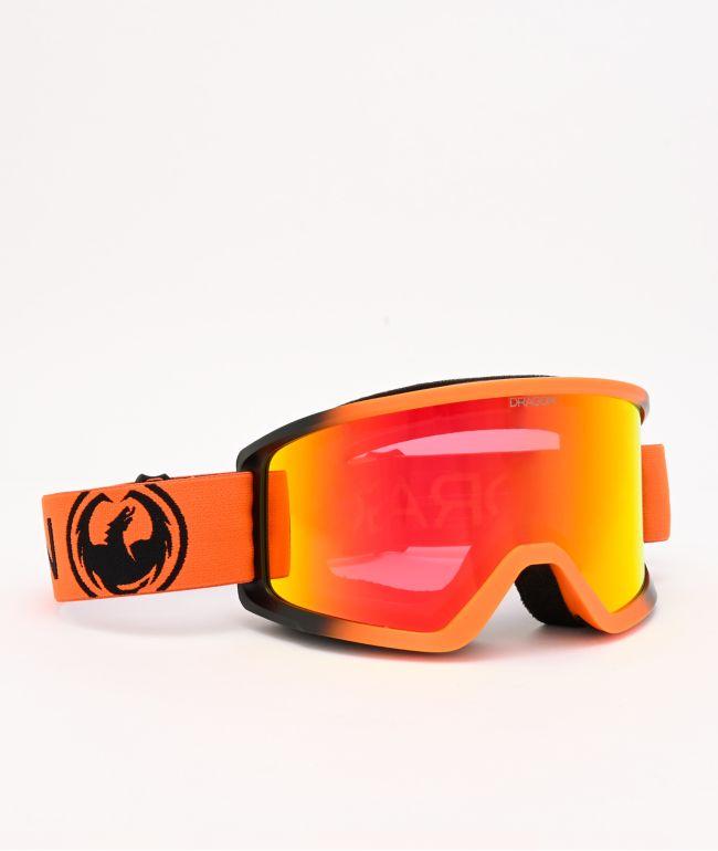 Dragon DX3 OTG Tangerine & Red Ion gafas de snowboard