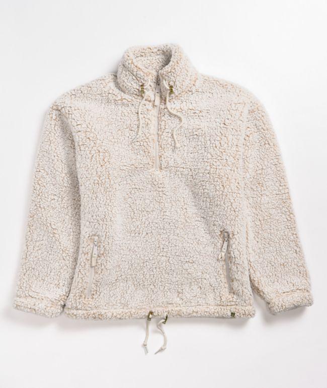 Dravus Alpine Oatmeal Fleece Quarter Zip Jacket