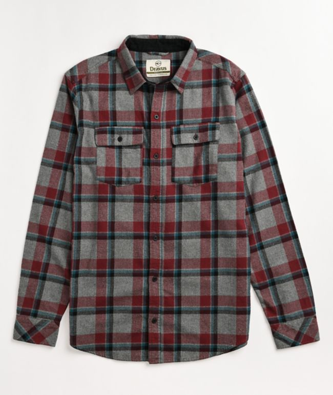 Dravus Jubal Chocolate Truffle & Black Flannel Shirt