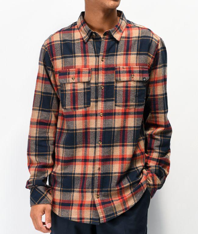Dravus Jubal Navy & Tobacco Flannel Shirt