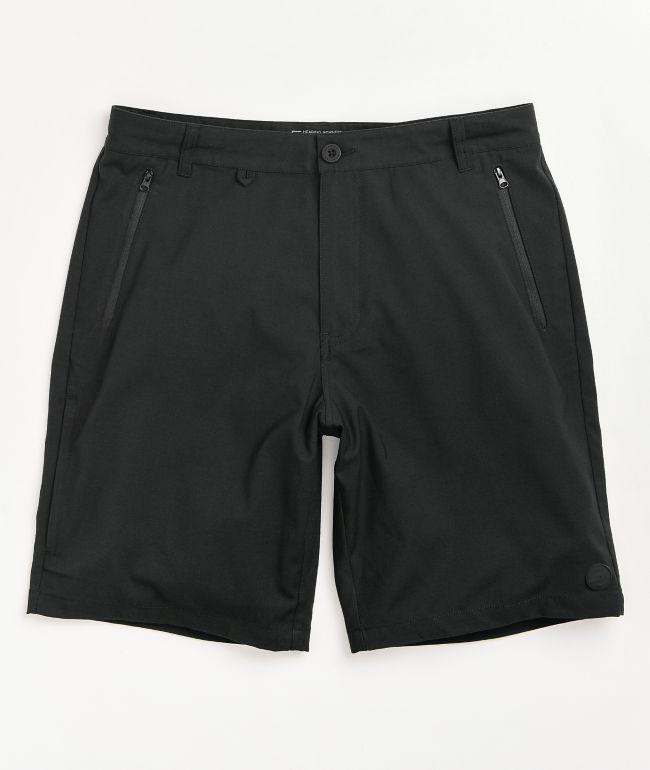 Dravus Recreational Black Hybrid Shorts