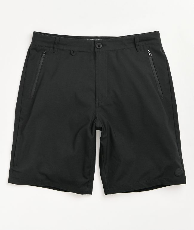 Dravus Recreational Black Hybrid Shorts