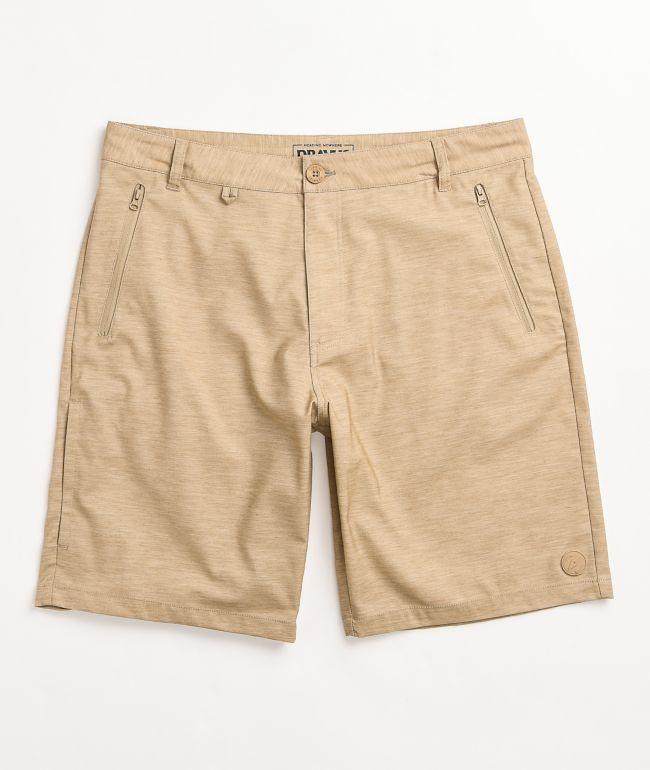 Dravus Recreational Khaki Hybrid Shorts