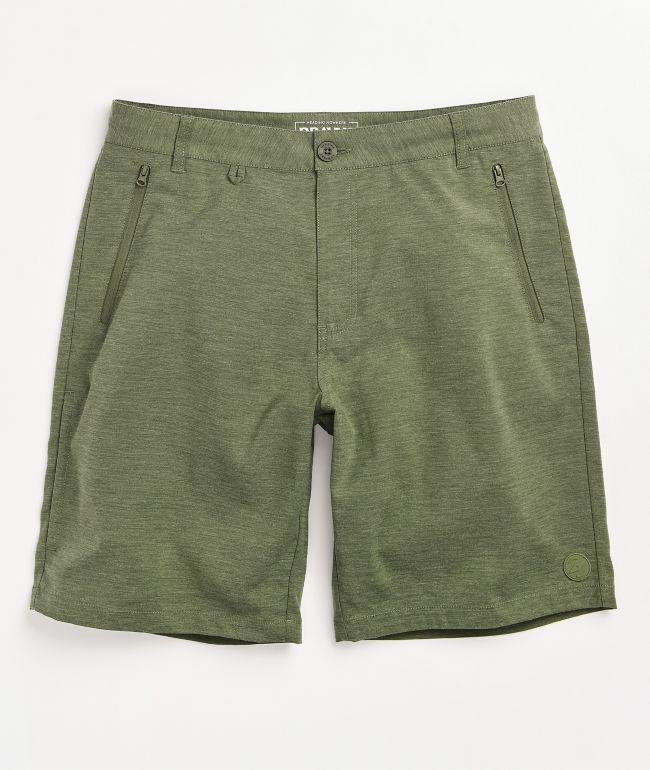 Dravus Recreational Olive Hybrid Shorts