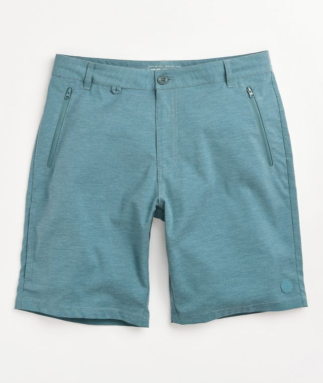 Dravus Recreational Teal Hybrid Shorts