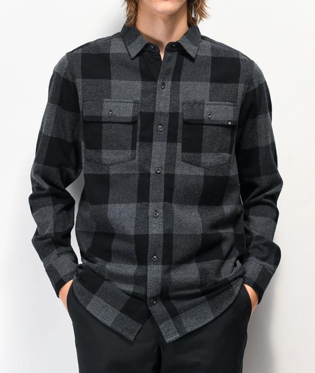 Dravus Travis Grey & Black Flannel Shirt