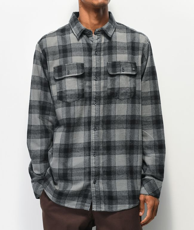 Dravus Travis Grey Flannel Shirt