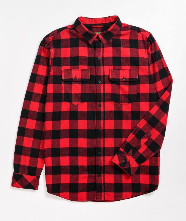 Dravus Willard Red & Black Flannel Shirt