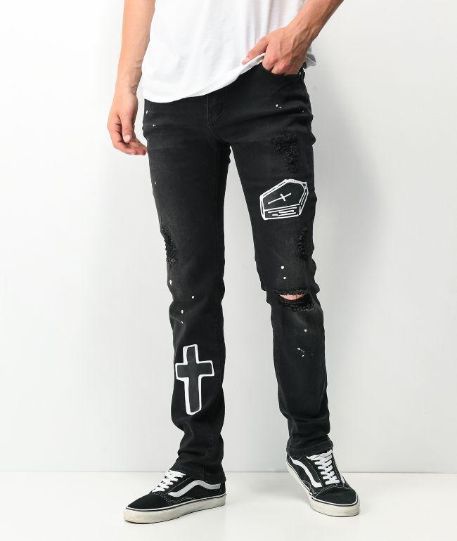 Dript Denim D.1004 Doodle Dream Black Skinny Jeans
