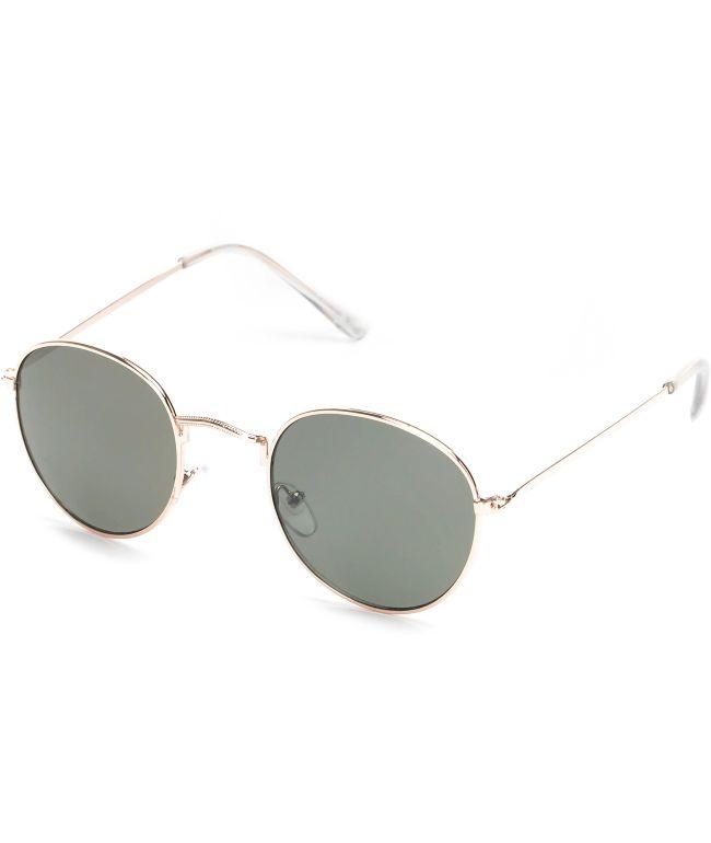 Dyllon Gold Metal Frame Sunglasses