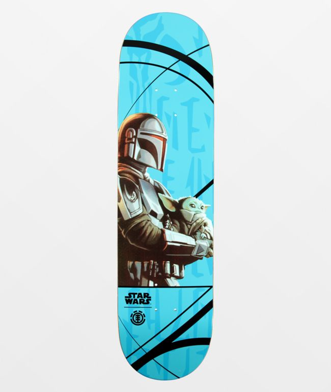 "Element x Star Wars Mandalorian Mando Child 8.25"" Skateboard Deck"