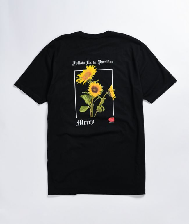 Elenex Mercy Flower Black T-Shirt