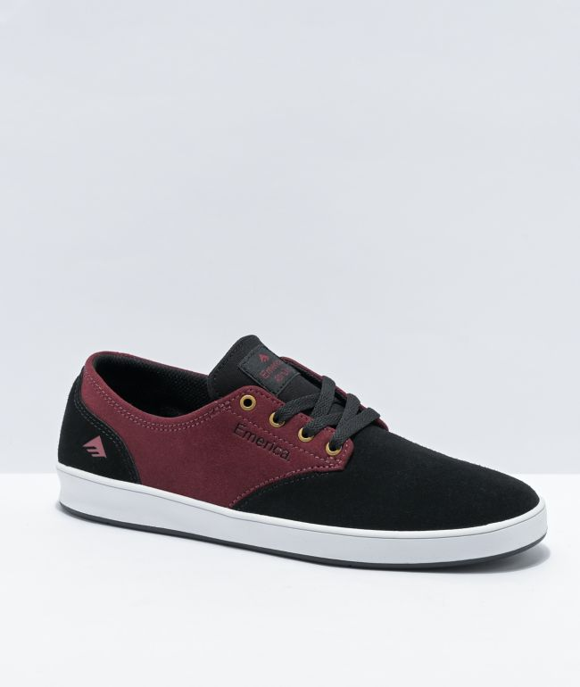 Emerica Romero Laced Blackberry & Black Skate Shoes