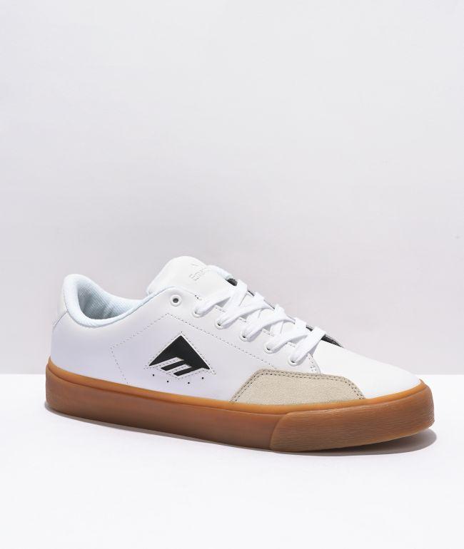 Emerica Temple White & Gum Skate Shoes