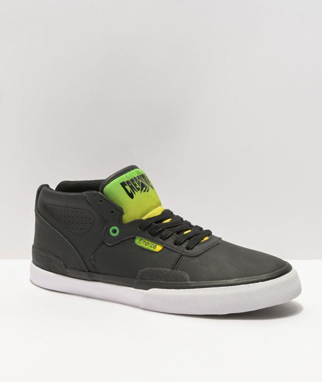 Emerica x Creature Pillar Black & Green Skate Shoes