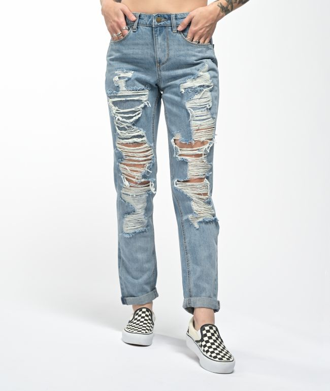 Empyre Easton Rip Repair Distressed Denim Jeans
