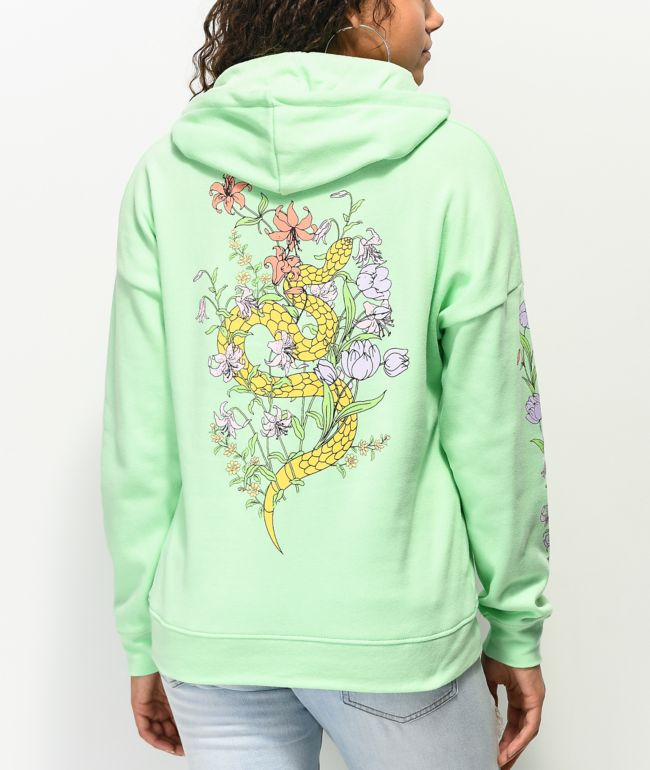 Empyre Fredia Flower Green Hoodie